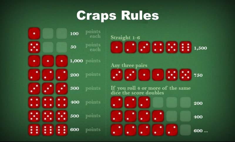 Craps Regeln